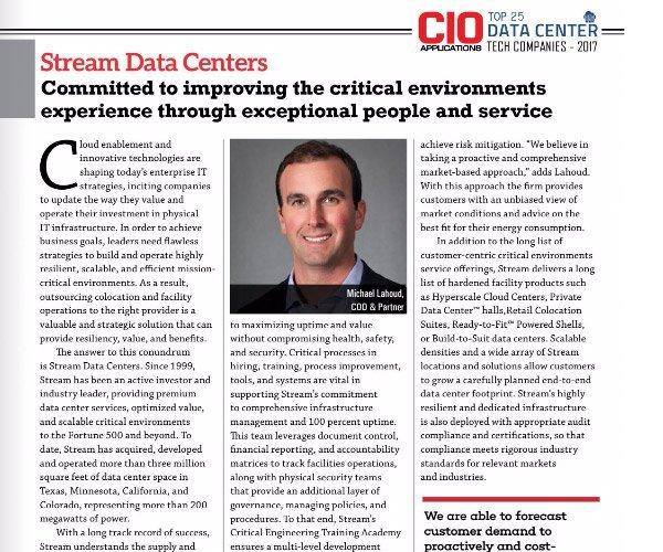 Stream named Top 25 Data Center Tech Companies of 2017