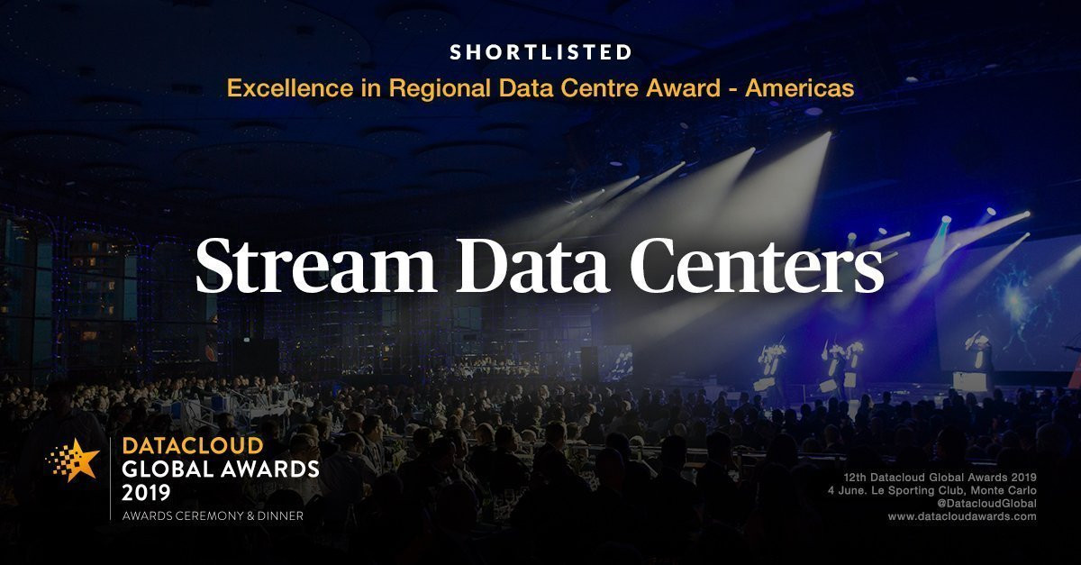 Stream Data Centers Shortlisted for Two Datacloud Global Awards